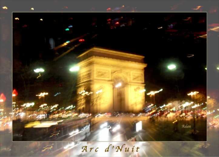 Arc de Triomphe Poster smaller border © Felipe Adan Lerma https://fineartamerica.com/featured/arc-de-triomphe-by-bus-tour-greeting-card-poster-v2-felipe-adan-lerma.html
