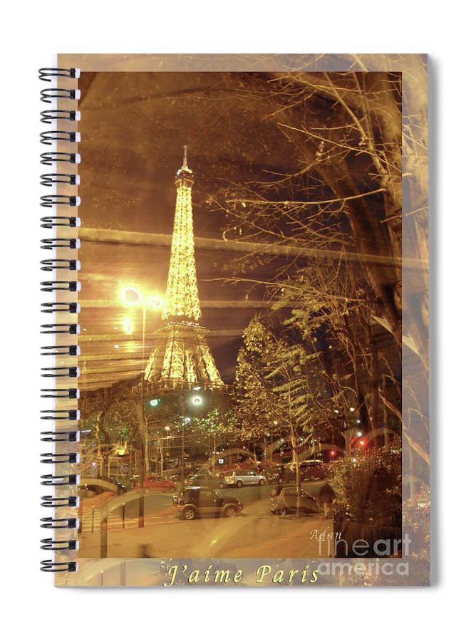 Eiffel Tower Bus Tour Poster spiral book - https://fineartamerica.com/featured/eiffel-tower-by-bus-tour-felipe-adan-lerma.html?product=spiral-notebook