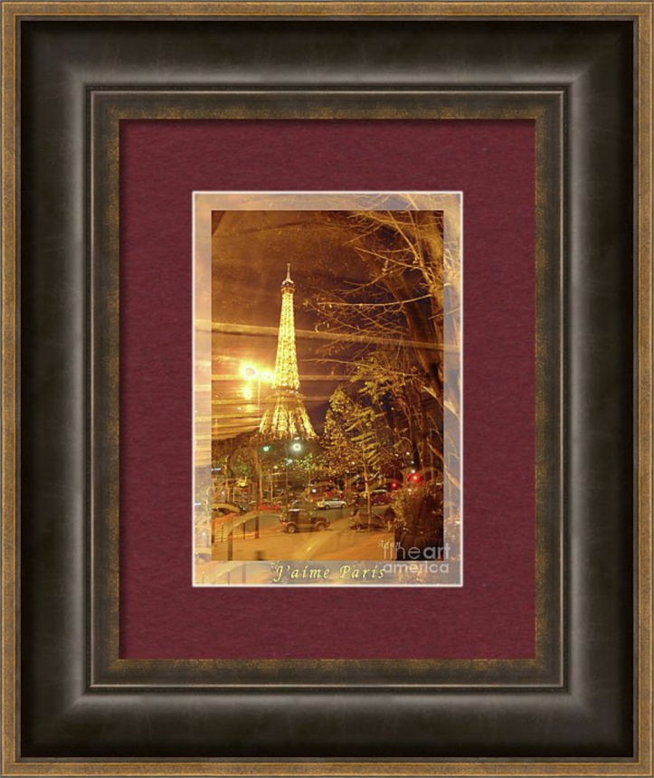 Eiffel Tower Tour Bus Night Poster - gift framed item available on Fine Art America - https://fineartamerica.com/featured/eiffel-tower-by-bus-tour-greeting-card-poster-felipe-adan-lerma.html?product=framed-print