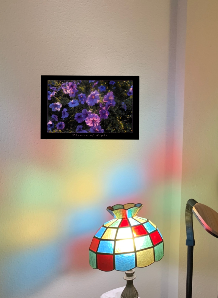 Theatre of Light Poster on light color wall; also offered non-poster w/out the black mat like border © Felipe Adan Lerma