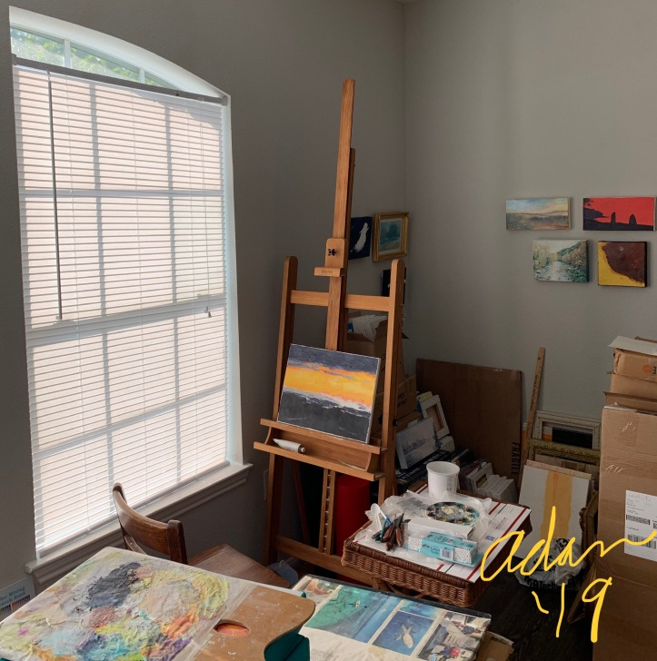My Art Room set-up finally done, three months after moving in & two months after surgery 😊 www.felipeadanlerma.com