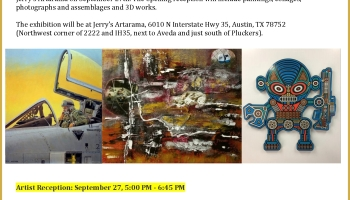 U.S. Veterans Art Show Flyer 2019 at Jerrys Artarama Austin Texas