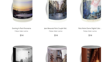 Paris Coffee Mug Gifts at FAA © Felipe Adan Lerma - https://fineartamerica.com/profiles/felipeadan-lerma/collections/paris/coffee+mugs