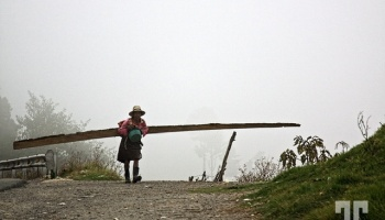 Woman carrying wood in the rural Guatemala ©Tatiana, Travelways