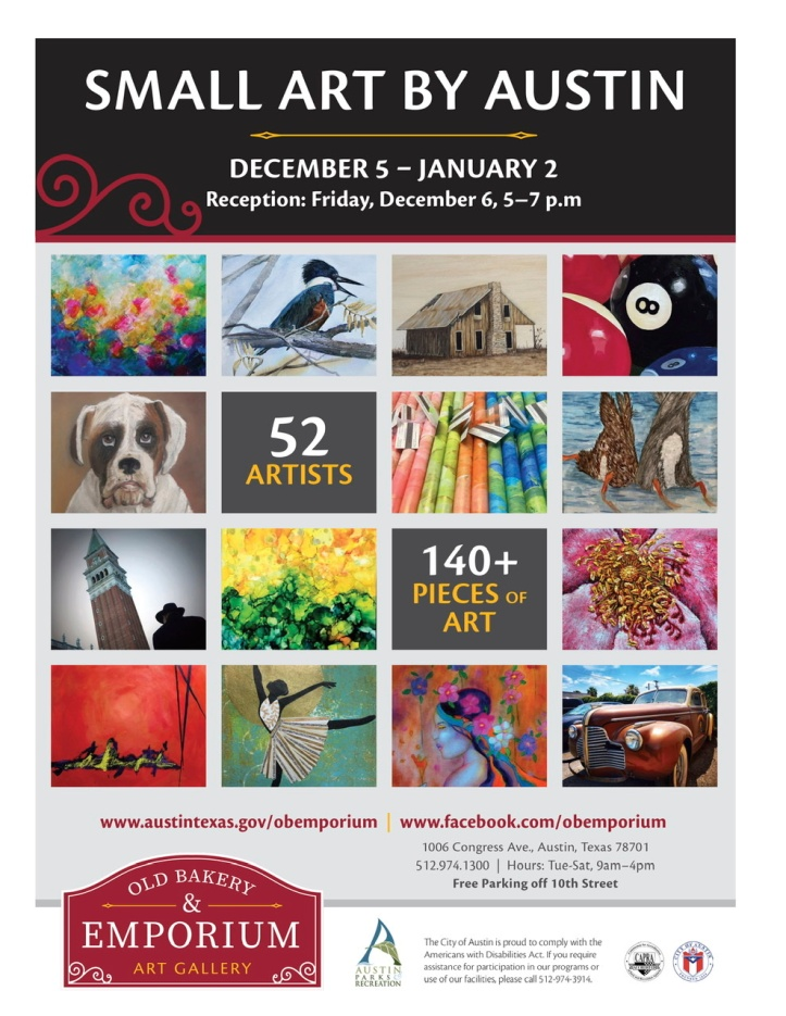 December 2019 Austin Area Artists show at the Old Bakery & Emporium