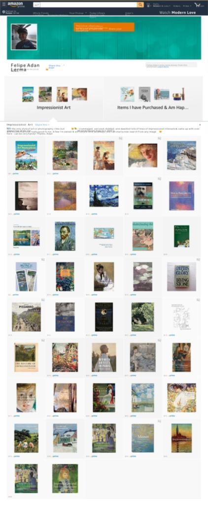 Adan's Impressionist Art Product Suggestions Page on Amazon - https://www.amazon.com/shop/felipeadanlerma