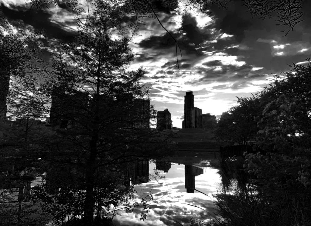 After a Spring Rain Austin Sunrise Skyline From Butler Park BW ©Felipe Adan Lerma https://felipeadan-lerma.pixels.com/featured/after-a-spring-rain-austin-sunrise-skyline-from-butler-park-blackwhite-felipe-adan-lerma.html
