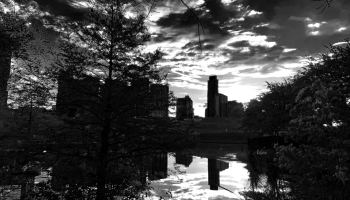 After a Spring Rain Austin Sunrise Skyline From Butler Park BW ©Felipe Adan Lerma https://fineartamerica.com/featured/after-a-spring-rain-austin-sunrise-skyline-from-butler-park-blackwhite-felipe-adan-lerma.html