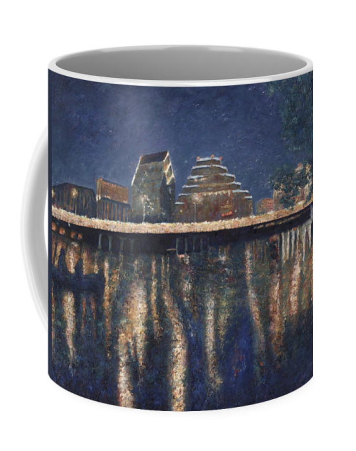 Austin at Night coffee cup @FineArtAmerica ©Felipe Adan Lerma https://fineartamerica.com/featured/austin-at-night-felipe-adan-lerma.html?product=coffee-mug