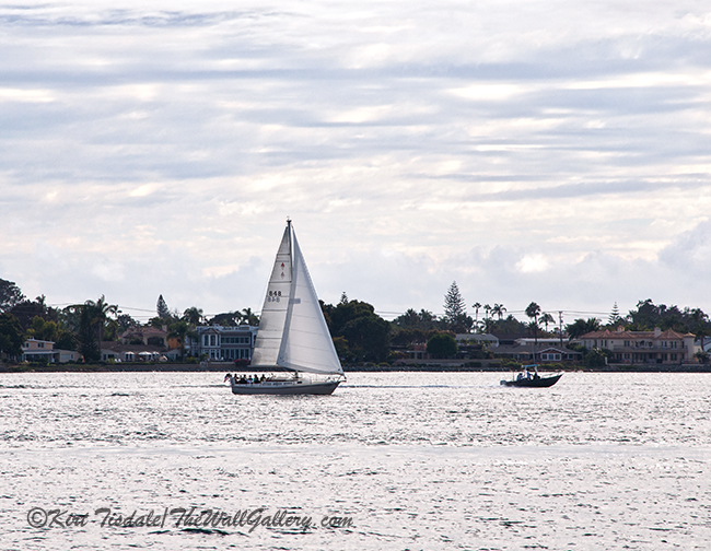 San Diego Bay ©Kirt Tisdale https://thewallgalleryblog.wordpress.com/2019/10/07/lighting-changes-sailboats-on-san-diego-bay/