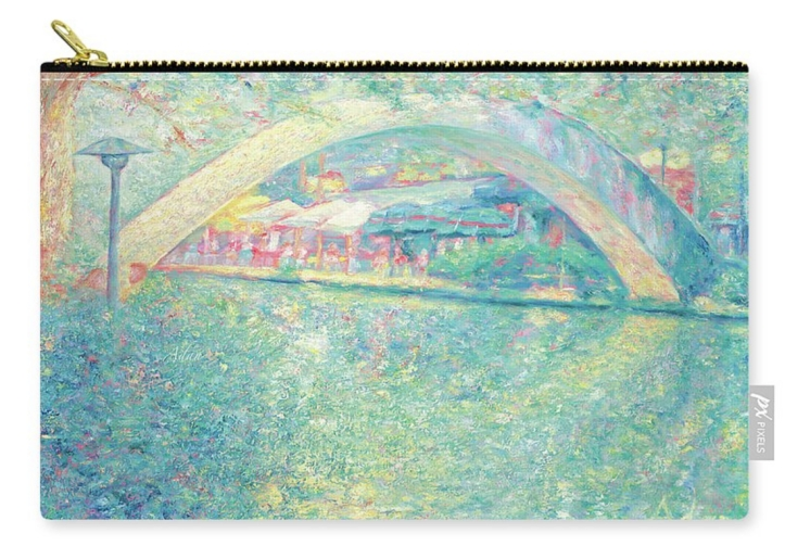 San Antonio Riverwalk carryall pouch ©Felipe Adan Lerma https://fineartamerica.com/featured/san-antonio-riverwalk-felipe-adan-lerma.html?product=pouch