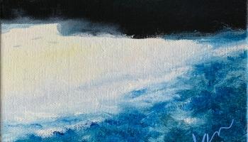 Untitled Moon Painting Varnish 2 Nov 18'19 ©Felipe Adan Lerma