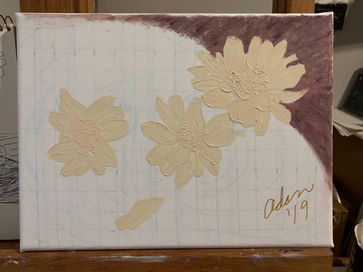 Floating Blooms Acrylic Experiment, Shaping & Movement 11.29.19 ©Felipe Adan Lerma