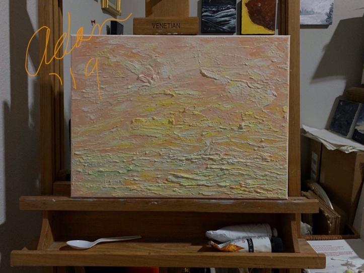 In-progress Textured Painting '19 ©Felipe Adan Lerma