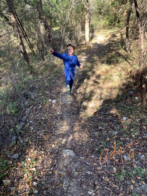 With Max by Slaughter Creek Trail Nov 23'19 b ©Felipe Adan Lerma