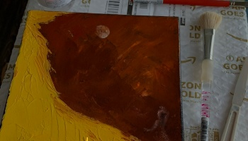 Woman in Moonlight ©Felipe Adan Lerma : Blog post - Deciding When My Painting is Done, Part 4 – Discoverng and Painting a Story, Woman in Moonlight