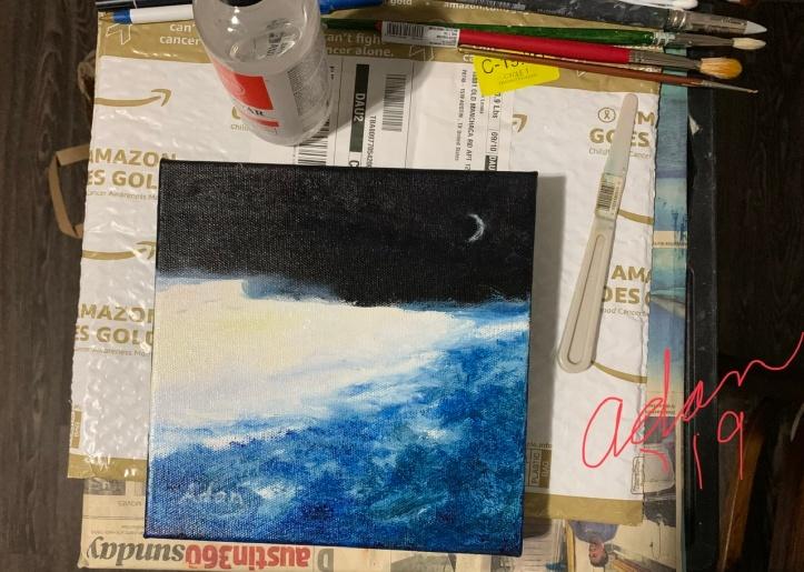 In-progress Moon Painting '19 ©Felipe Adan Lerma