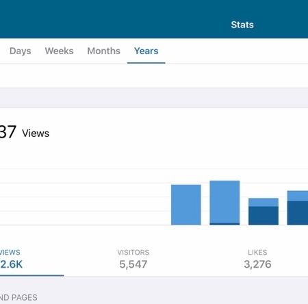 Adan's Visitor Views Blog Stats 11.20.19