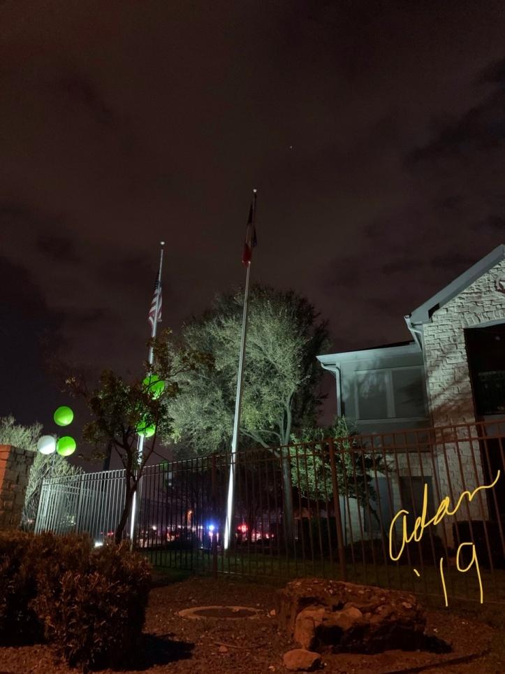 Evening Walk 12.09.19 flags w/no wind ©Felipe Adan Lerma