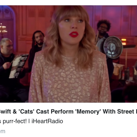 Taylor Swift & 'Cats' Cast Perform 'Memory' w/street instruments!- https://www.iheart.com/content/2019-12-19-taylor-swift-cats-cast-perform-memory-with-street-instruments/