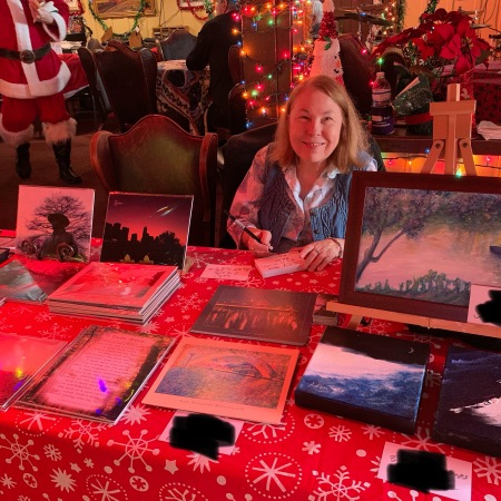 Donn's Depot 6th Annual Christmas Bazaar 2019 Austin Texas Sheila making tags