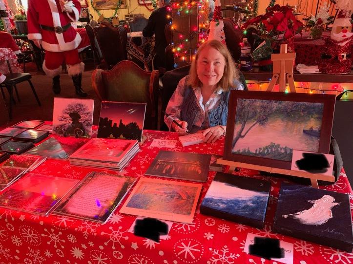 Donn's Depot 6th Annual Christmas Bazaar 2019 Austin Texas Sheila making tags