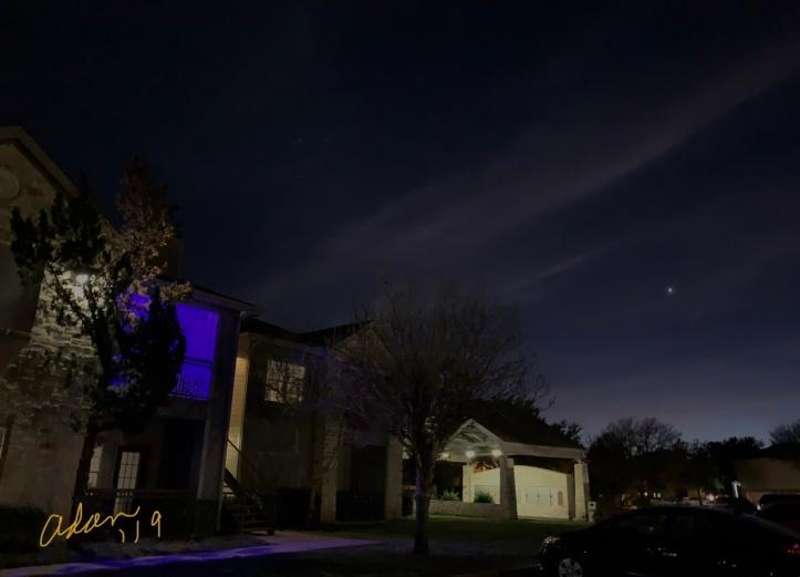 Evening Star Night Before Christmas Eve 2019 ©Felipe Adan Lerma