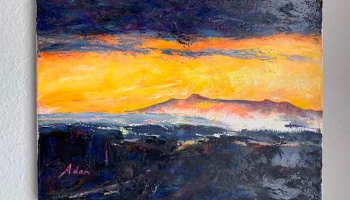 Mt Mansfield sunrise 12x16 circa 2019 ©Felipe Adan Lerma