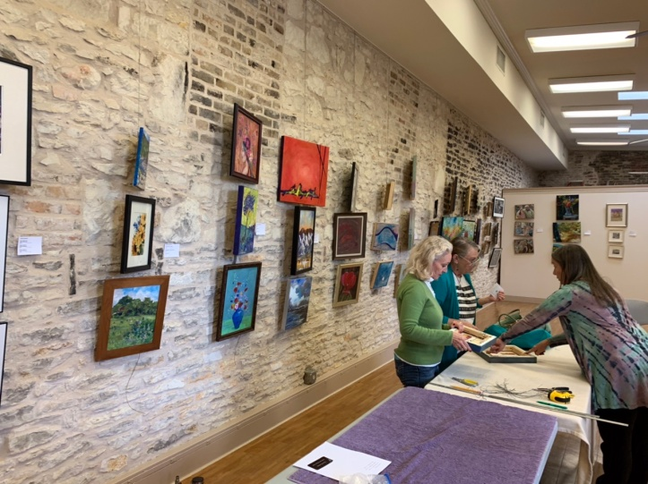 Old Bakery & Emporium 2019 Dec Austin Area Artists Show Set-up f ©Felipe Adan Lerma