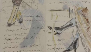 Guardian article - Manet made the doodles in his letters look effortless ... by using tracing paper https://www.theguardian.com/artanddesign/2019/nov/09/manet-effortless-doodles-tracing-paper