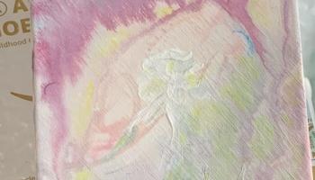 In-Progress Acrylic Watercolor 6x6 Lady of the Flowers 01.01.20 ©Felipe Adan Lerma