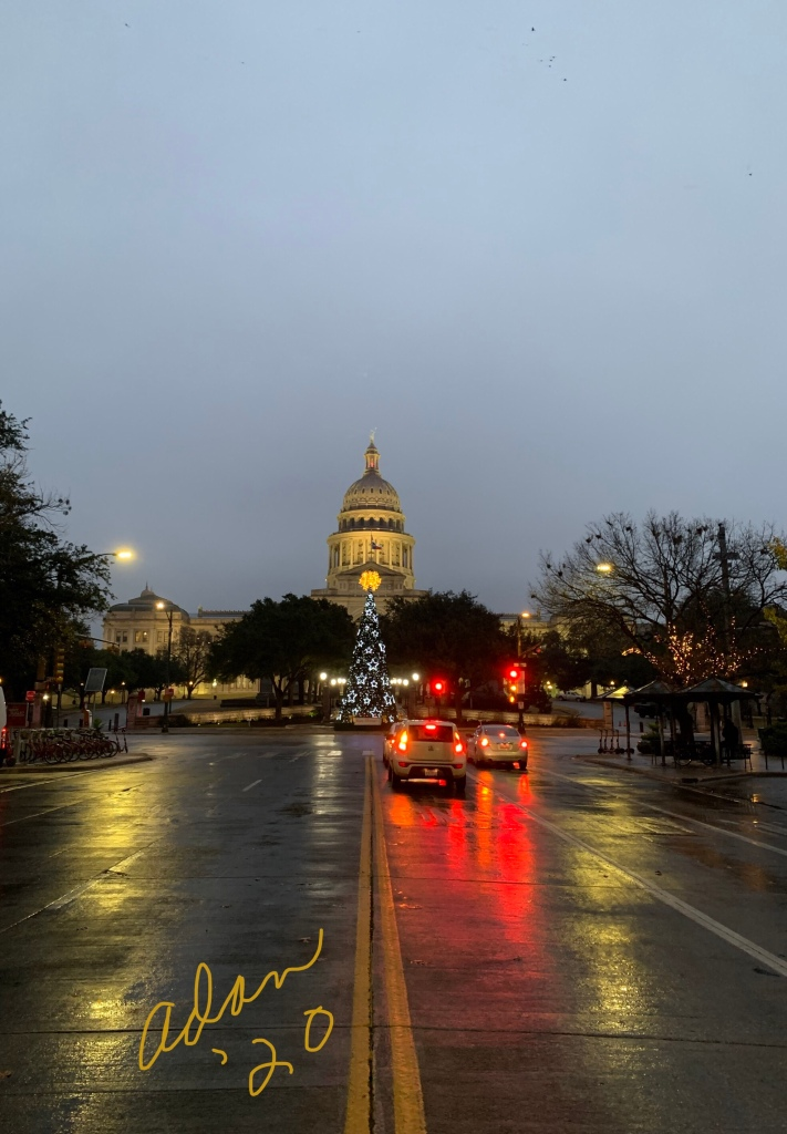 Texas State Capitol Bldg from outside the Old Bakery & Emporium 01.02.20 ©Felipe Adan Lerma