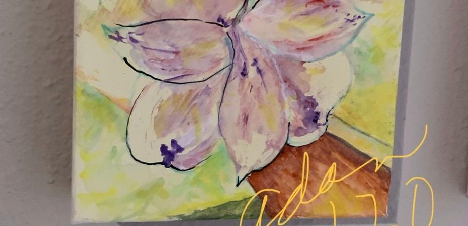 Lost Edges Idea - Violet Bloom Cluster Varied Background 02.17.20