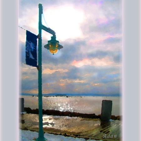 Snow Waterfront Park Walk ©Felipe Adan Lerma https://felipeadan-lerma.pixels.com/featured/snow-waterfront-park-walk-felipe-adan-lerma.html