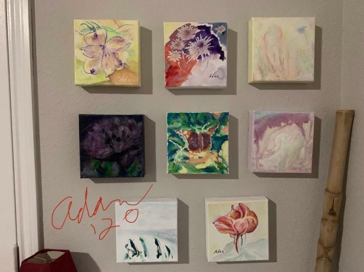 Finished & Near-finished 6x6 Watercolors 03.08.20 ©Felipe Adan Lerma www.felipeadanlerma.com