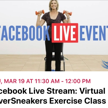 SilverSneakers Virtual Class on FB 03.19.20 https://facebook.com/events/s/facebook-live-stream-virtual-s/250770479421219/?ti=icl