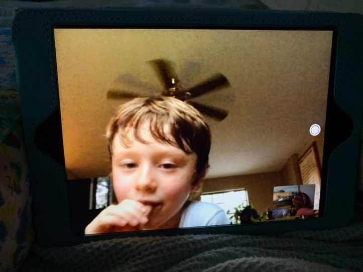 Max on FaceTime Apr 08, 2020 ©Felipe Adan Lerma