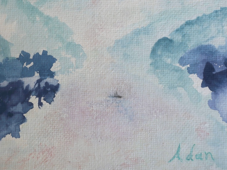 At Rest With Nature detail ©Felipe Adan Lerma - watercolor on absorbent ground May 2020