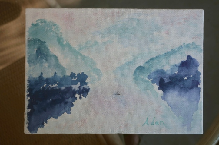 At Rest With Nature ©Felipe Adan Lerma - watercolor on absorbent ground May 2020