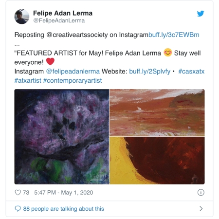 Featured Artist on Creative Arts Society May 2020 - More of My Paintings at Fine Art America https://fineartamerica.com/profiles/felipeadan-lerma?tab=artworkgalleries&artworkgalleryid=702859