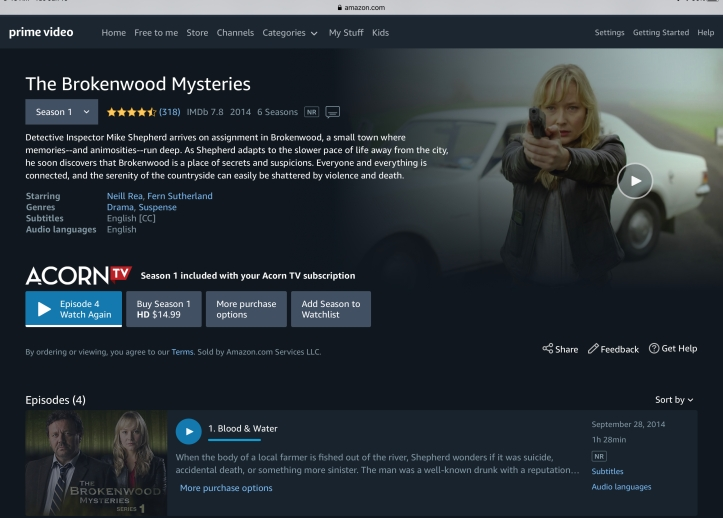 The Brokenwood Mysteries Acorn TV Prime Video https://amzn.to/2Cdv6RD