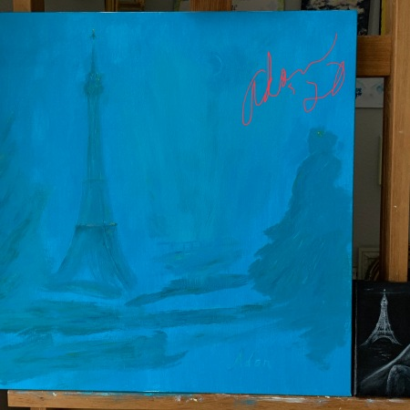 Paintings in Progress June/July 2020 - Lady in Paris 1889 and Paris Arm Chair View ©Felipe Adan Lerma