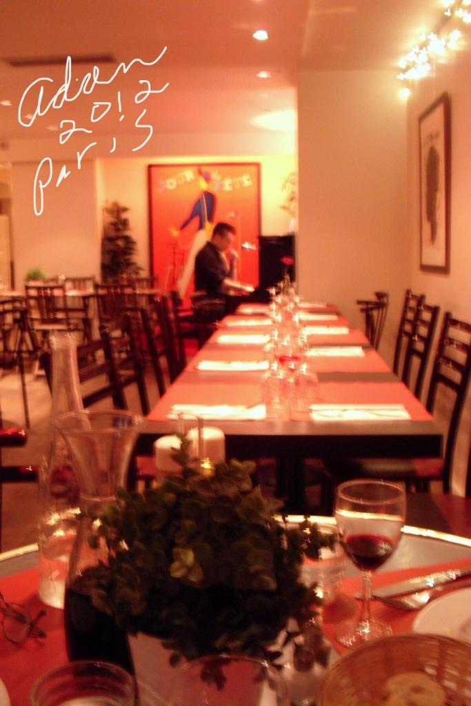 Piano Player in Cafe in Paris 2012 ©Felipe Adan Lerma