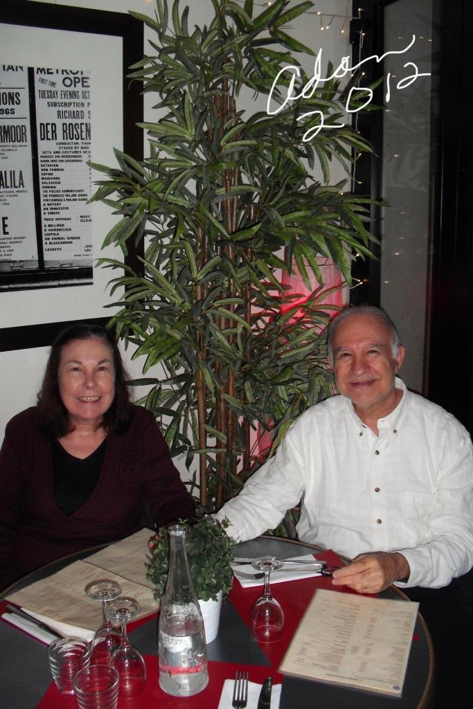 Sheila and Adan in Cafe Paris 2012 ©Felipe Adan Lerma