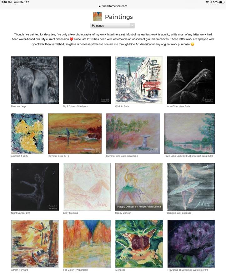 My paintings on FAA 09.23.20 ©Felipe Adan Lerma https://fineartamerica.com/profiles/felipeadan-lerma?tab=artworkgalleries&artworkgalleryid=702859
