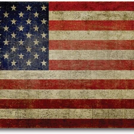 Worn US Flag
