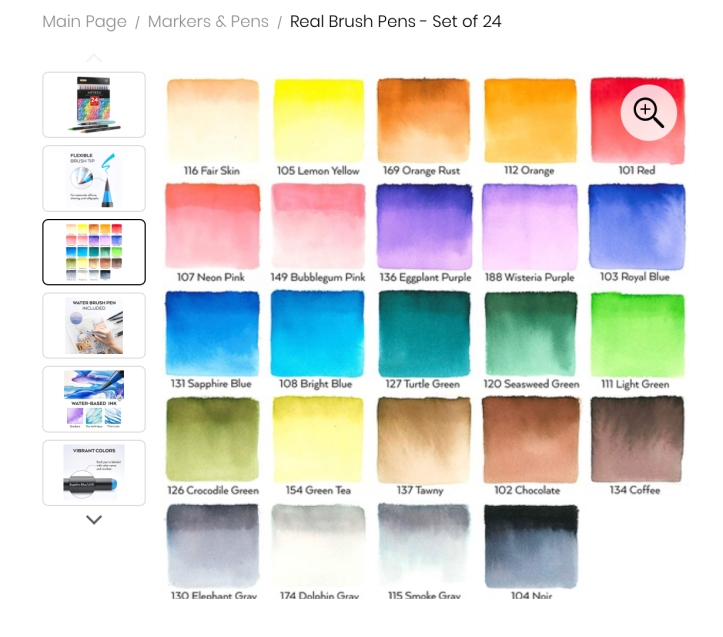 Arteza Watercolor Brush Pens 24 https://amzn.to/3nEWYk7
