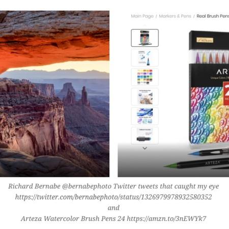 My most popular posts Nov 2020 : Richard Bernabe @bernabephoto Twitter tweets that caught my eye https://twitter.com/bernabephoto/status/1326979978932580352 and Arteza Watercolor Brush Pens 24 https://amzn.to/3nEWYk7