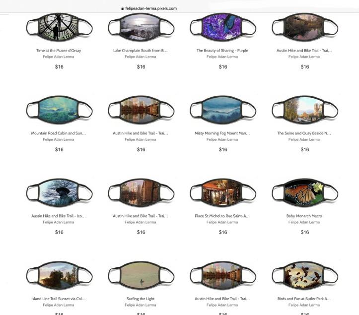 Face Masks ©Felipe Adan Lerma @FineArtAmerica https://felipeadan-lerma.pixels.com/shop/face+masks