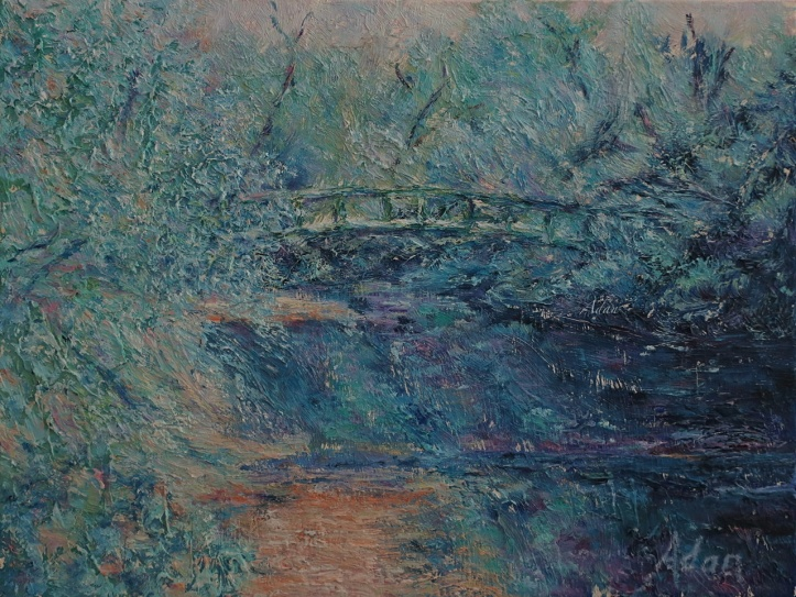 Walking Bridge Zilker Park Painting ©Felipe Adan Lerma https://felipeadan-lerma.pixels.com/featured/walking-bridge-zilker-park-painting-felipe-adan-lerma.html